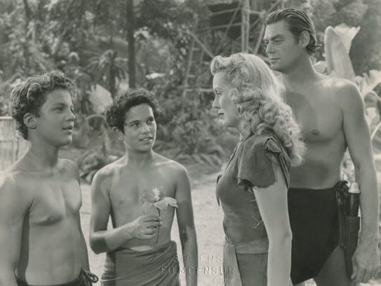 Real swingers: Johnny Sheffield is Boy, Tommy Cook