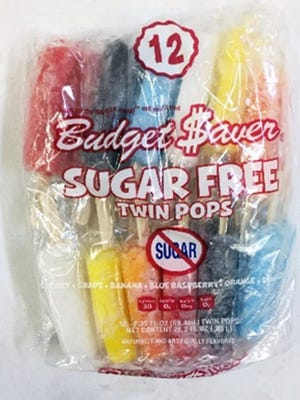 Budget $aver Sugar-Free Twin Pops.