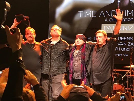 Jim Babjak, Dennis Diken, Stevie Van Zandt and Mike Mesaros pay tribute to late Smithereens frontman Pat DiNizio Jan. 13, 2018 at the Count Basie Theatre in Red Bank.