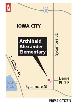 A rendered map shows the location of Alexander Elementary School.