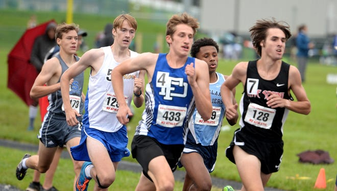 "Fort Defiance's Jacob Jones won the 3,200-meter run in a ""polar bear"" track meet Tuesday at Fort Defiance High School."