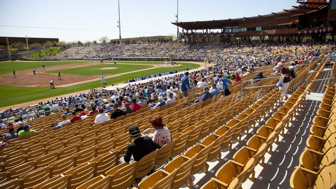 Camelback Ranch Glendale, host to the Los Angeles Dodgers and the Chicago White Sox, is the largest complex in the Cactus League.