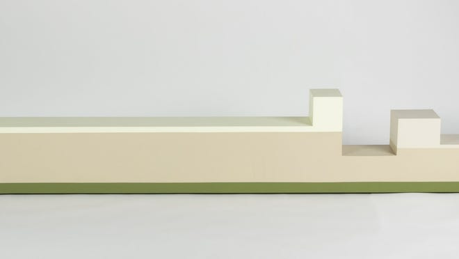 """Ann Truitt's """"Sandcastle"""" (1963, acrylic on wood) is featured in """"Reductive Minimalism,"""" which spotlights female artists."""