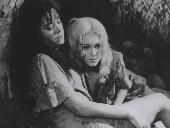 Eliza Montes (left) and Luciana Paluzzi are two of