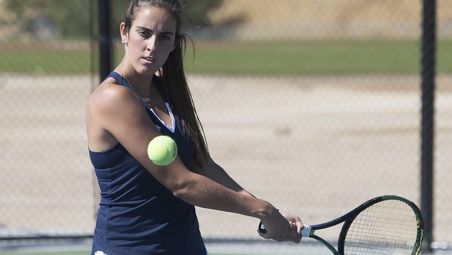 Nevada's Claudia Herrero was named the Mountain West women's tennis player of the year.