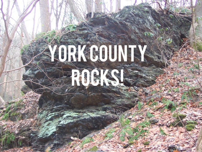 Jeri Jones gives a tour of York County's geological