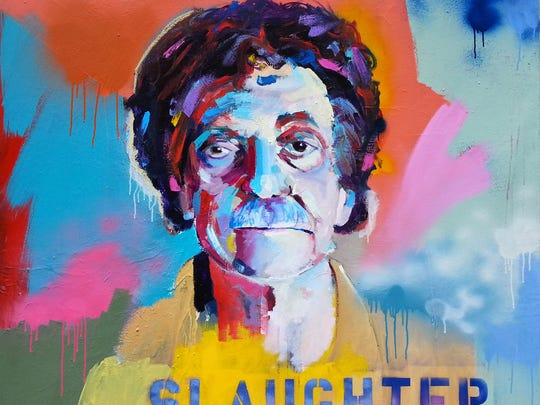 See local artist Jonathan McAfee's new series featuring Kurt Vonnegut at the Vonnegut Library.