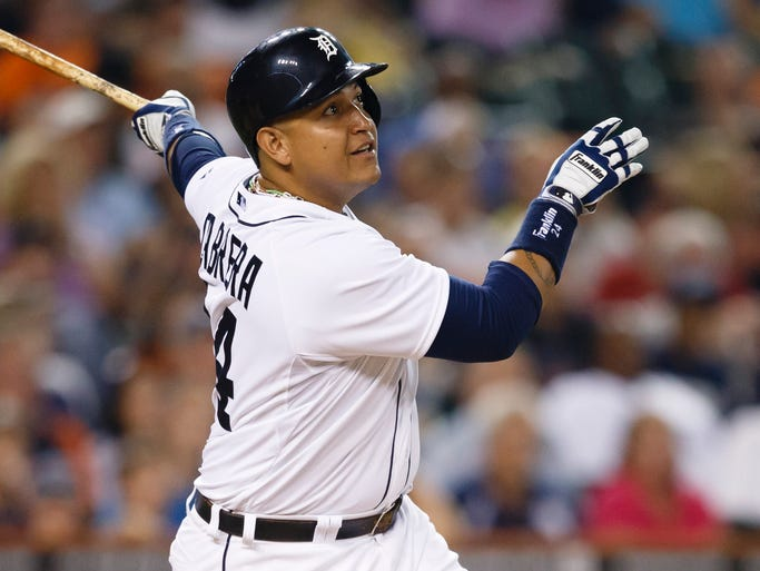 Miguel Cabrera received 25 of the 30 first-place votes to become the first back-to-back AL MVP winner since Frank Thomas in 1993-94.