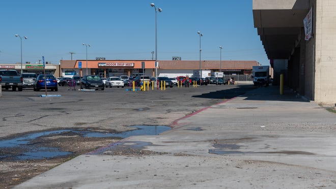 A man was shot and killed in this parking lot at Seventh Street and La Paz Drive in Victorville on Monday, July 6, 2020. Authorities were still looking for suspects as of Tuesday, July 7, 2020.