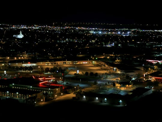 The hills around St. George provide plenty of opportunities for looking over the city and night photography.