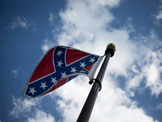 The Confederate flag at the South Carolina State House