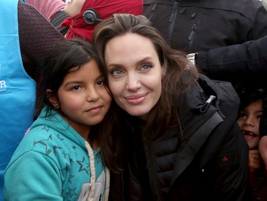 Angelina Jolie is an actor and a special envoy for a United Nations refugee agency. Last year she visited the Zaatari camp for Syrian refugees located in Mafraq, Jordan.