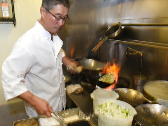 Kelly Chang, chef and proprietor of China Café, makes