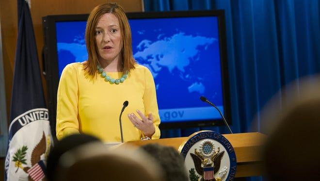 Jen Psaki, portavoz del Departamento de Estado en EU.