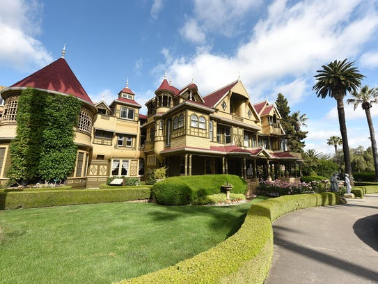 The Winchester Mystery House in its full glory.
