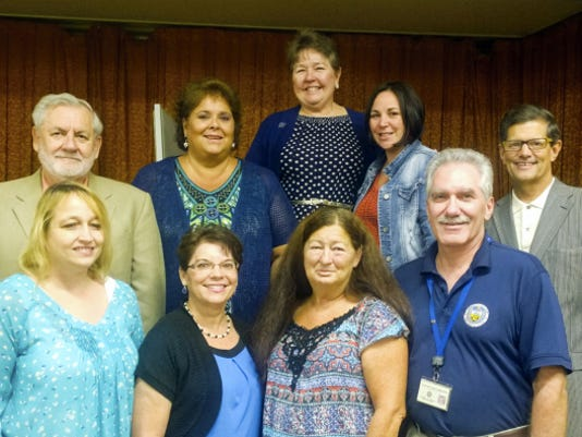 Lebanon County employess were honored for their service recently. Pictured are, back row from left, Commissioner Bill Ames; Dawn Resanovich, register of wills/clerk of orphans court; Commissioner Jo Ellen Litz; Tina Verna, Lebanon County Correctional Facility; Commissioner Bob Phillips; front row from left; Sharon Gassart, Children & Youth; Mercedes Marrero, courts; Gina Stahl, building security; and Robert Sutherly, Children & Youth.