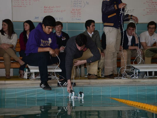 ANI Underwater Robots Alexandria Senior High students Jonathan Turrubiartes and Zachary Price are students in Julia James' physics class and have built underwater robots. Turrubiartes and Price will use a remote control to maneuver the robot through an und