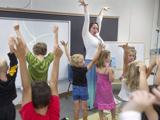 "Teacher Meredith Yakelis told me some tricks she uses to get kids' attention include yelling ""macaroni and cheese"" to which the kids respond ""everybody freeze!"" (File photo)"