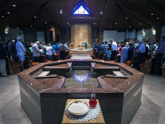 Mass Sunday August 16, 2015 at St. Joseph Roman Catholic Church in Springettbury Township.