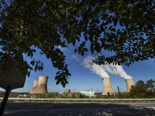 A spokeswoman for Exelon, which operates Three Mile Island, pictured, said the nuclear industry should be rewarded as part of the state's plan to meet the federal Clean Power Plan.