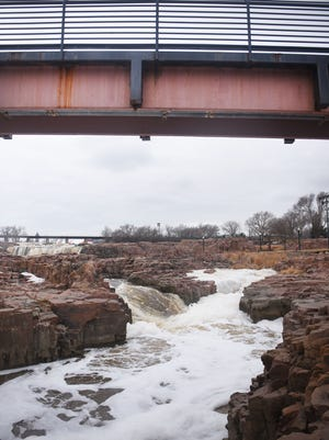Falls Park Monday, March 19, in Sioux Falls.