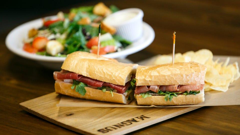 The prosciutto and brie sandwich at Magnus Sandwiches