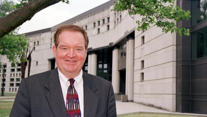 Michael E. Moritz, whose name graces the Ohio State University law school, is shown in a 2001 file photo.