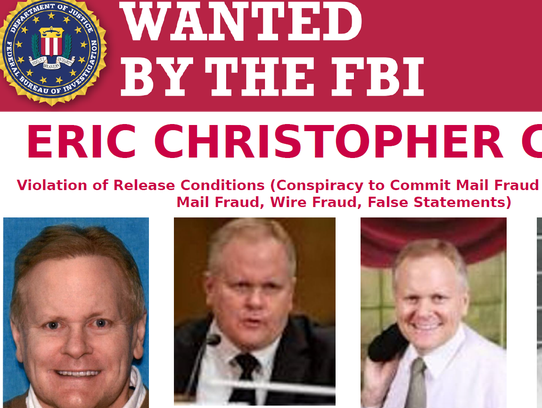 An FBI poster released as the agency searches for Eric
