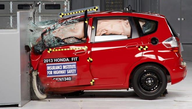 Honda Fit performed poorly in IIHS tests