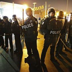Police in Ferguson, Mo.