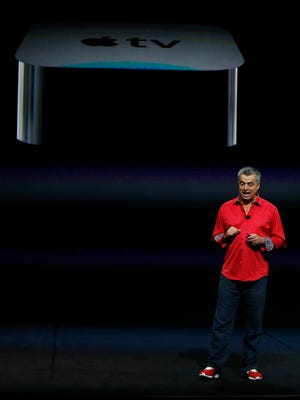 Apple Senior Vice President of Internet Software and Services Eddy Cue talks about the new Apple tv during an Apple launch event at the Bill Graham Civic Auditorium in San Francisco, California, USA, 09 September 2015