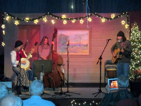 Blake Martin, at right, also brought a trio to add