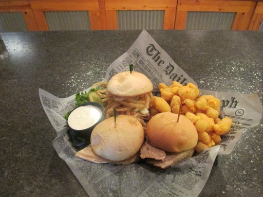 Parcker John's in Kiel offers a slider lunch with cheese