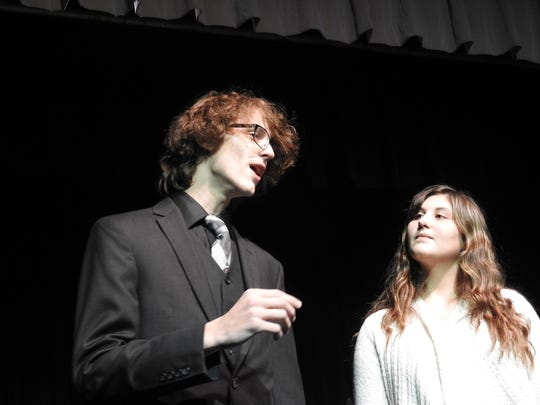 "Grant Cullison and Annie Bosson perform ""All I Ask of You"" from ""Phantom of the Opera"" this week at Triple Locks Theater. The Coshocton Footlight Players are presenting ""Musical Showcase 2017: An Evening of Andrew Lloyd Webber,"" Thursday through Sunday."
