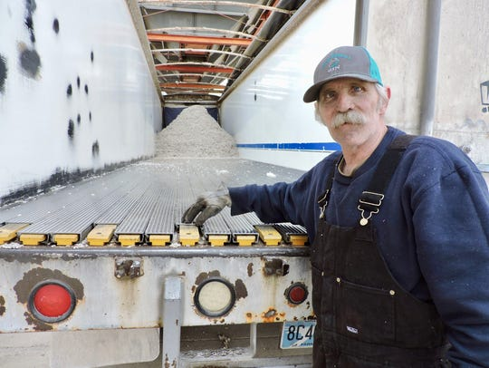 Donnie Williams hauls cottonseed from Elliott, in eastern