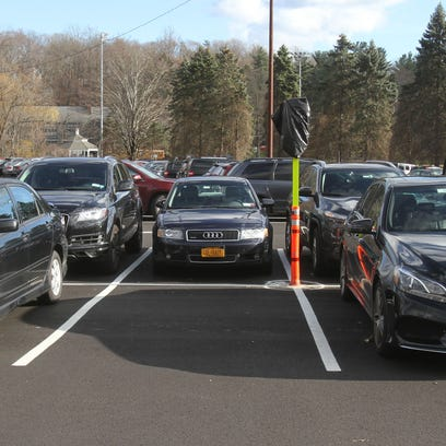 The parking spaces for compact cars at the Chappaqua