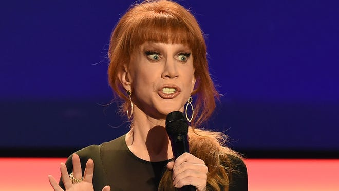 Kathy Griffin as she takes the stage at the AARP 15th Annual Movies For Grownups Awards at the Beverly Wilshire Hotel in Beverly Hills, Calif., on Feb. 7, 2016.