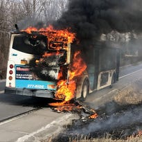 Trumansburg, Ithaca firefighters put out blaze on TCAT bus