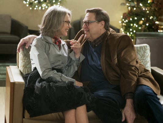 """Diane Keaton, left, as Charlotte, and John Goodman as Sam in """"Love the Coopers."""""""