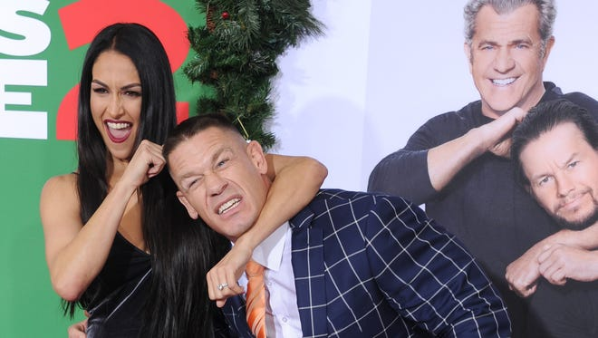 John Cena and Nikki Bella arrive at the premiere of  'Daddy's Home 2.'