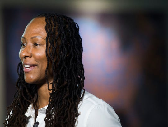 Women's Basketball Hall of Fame inductee Chamique Holdsclaw