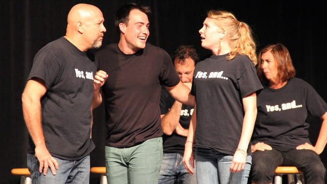 Members of the Improv Anonymous troupe perform during the May 2014 Improv Tonight! show at the Center for Performing Arts in Bonita Springs.