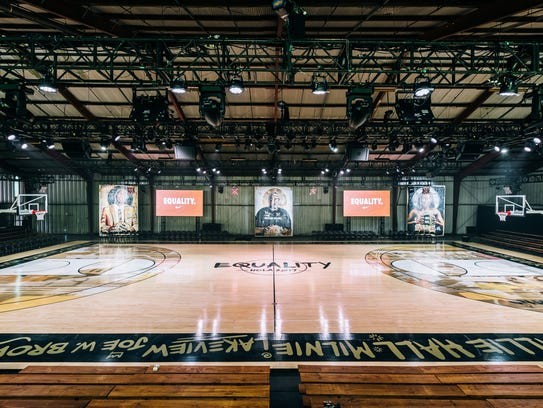 "Nike's ""Equality"" studio in New Orleans at NBA All-Star"