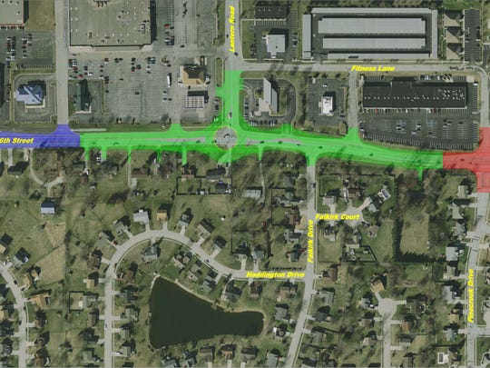 Fishers plans to add a roundabout to the three-way intersection of Lantern Road and 96th Street in 2016.