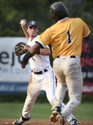 St. Cloud's Brett Pope sets up to make a double play