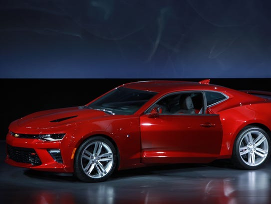 The sixth-generation 2016 Chevrolet Camaro SS sits
