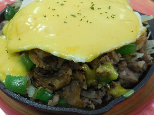 Pictured is the Wild Goose Café's breakfast skillet.
