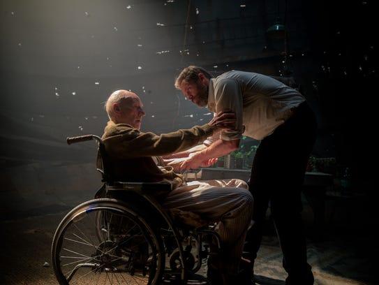 Sir Patrick Stewart and Hugh Jackman in 'Logan,' the