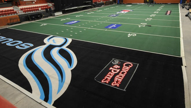 The Salina Liberty purchased a new field surface for the 2021 season from the Philadelphia Soul of the former Arena Football League. The Liberty will open the season March 20 against the Arlington Longhorns at Tony's Pizza Events Center.
