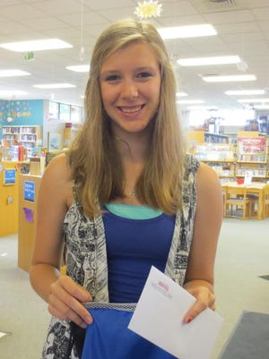 Alexia Polzin won the third prize as part of the Campbellsport Public Library teen summer reading program. There is still plenty of time for teens to join the program, call 920-533-8534 for information.